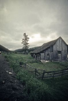 Rustic barn Photography decor stormy dark depression eerie abandoned ghost town goth farm old field idaho -Hell's Canyon -fine art photo