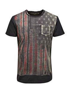 FLAG PRINT T-SHIRT - Jack & Jones
