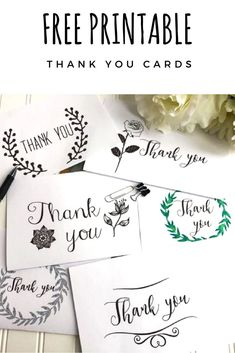 Use these free thank you card printable for any occasion