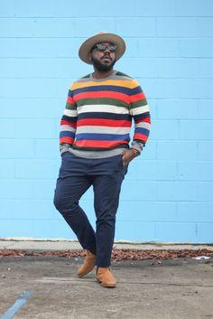 Homens de Camisas e blusas para te inspirar a usar listras! Mens Plus Size Fashion, Chubby Men Fashion, Large Men Fashion, Men's Fashion, Hipster Fashion, Fashion Trends, Moda Hipster, Style Hipster, Style Casual