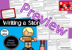 Writing a Story. Over 12 worksheets - no prep!