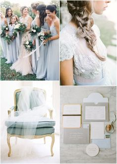 dusty blue and grey wedding inspiration