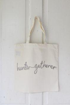 I am the hunter gatherer rope tote. $18.00, via Etsy.