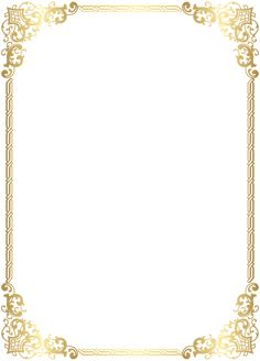 Gold Border Frame Transparent Clip Art Image is part of Frame template - Certificate Border, Certificate Background, Certificate Design Template, Frame Border Design, Page Borders Design, Borders For Paper, Borders And Frames, Borders Free, Molduras Vintage