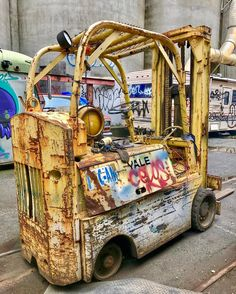 With little Rust-Oleum and some elbow grease?  #forklift