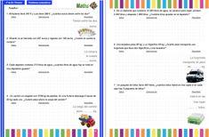 Colección de problemas para 4º de Primaria en PDF e Interactivos ideales para PDI