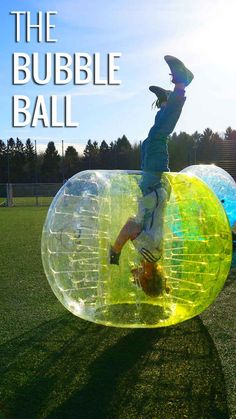 Once you get inside the human bubble ball the possibilities are endless: http://www.zorbingtime.com/human-bubble-ball/