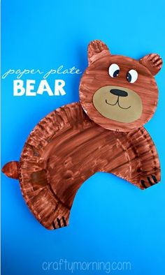 paper-plate-bear-craft-for-kids- perfect for winter stories
