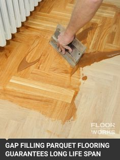 Gap Filling for Wooden Floors - Floorboards, Parquet Flooring, Hardwood Parquet Flooring Restoration, Floor Restoration, Pine Floors, Hardwood Floors, Parque Flooring, Floor Colors, Diy Flooring, Floor Finishes, Bamboo Cutting Board
