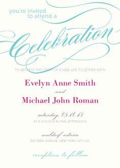 Wedding Invitations - Calligraphy