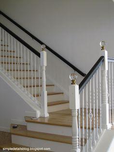 diy staircase finials...