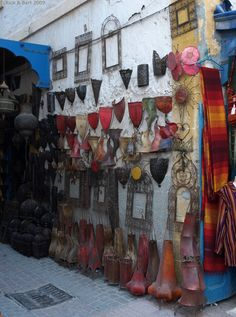 Lamps, Lanterns, Candle Holders at Essaouira Morocco, Africa