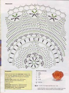 Kira esquema de crochet: Guardanapo