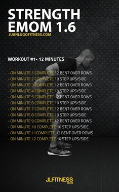 12 Minute Strength EMOM 12 bent over rows and 10 step ups per side. Full Body Bodyweight Workout, Emom Workout, Strength Workout, Training Fitness, Kettlebell Training, Kettlebell Circuit, Training Workouts, Tabata, Crossfit Workouts At Home