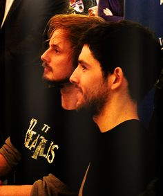 The Stubbles. Bradley James and Colin Morgan.