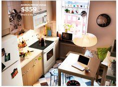 cute apartment kitchen - ikea