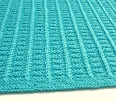 Hand Knit Baby Afghan Blanket