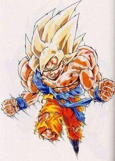 Super Saiyan Goku from Dragon Ball Z anime