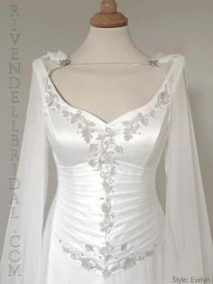 Alternative Wedding dresses with Elegant Medieval, Fairy and Celtic influence. Couture wedding dresses also including Elvish, Fantasy, Gothic and Renaissance dress Designs. Fantasy Wedding Dresses, Fairy Wedding Dress, Celtic Wedding Dresses, Pagan Wedding, Medieval Wedding, Irish Wedding, Renaissance Dresses, Medieval Dress, Pretty Dresses