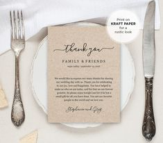 Wedding Thank You Letter Thank You Note by MintyPaperieShop