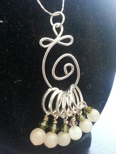 Another stitch marker necklace   @Leann O'Brien - you should make some of these for your sale ;)
