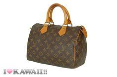 Auth Louis Vuitton Monogram Speedy 25 Bag Hand Purse Boston Free Shipping! #LouisVuitton #HandBag