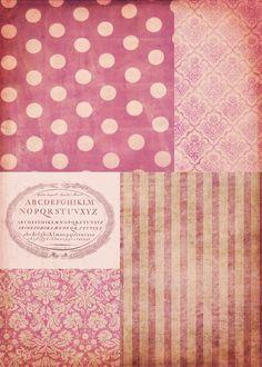 Ephemera's Vintage Garden: Freebie: Pink Shabby Chic Patchwork Background