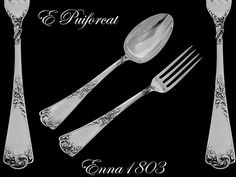 Fabulous French Sterling Silver Dinner Flatware Set 2 pc Rococo by Puiforcat