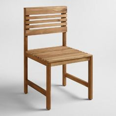 One of my favorite discoveries at WorldMarket.com: Wood Megano Side Chair