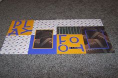 Football Scrapbook Pages. Minnesota Vikings by 1OfAKindCrafts