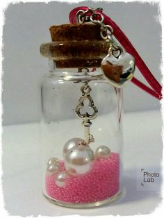 La bobina delle idee - tiny bottle charm