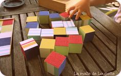 Des cubes tous simples pour les tous petits bouts