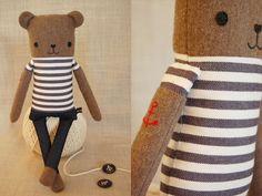 nikoki Stuffed Toy Animal - Sailor Bear