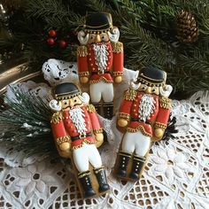 Nutcracker gingerbread Christmas cookies (holiday baking ideas christmas royal icing)