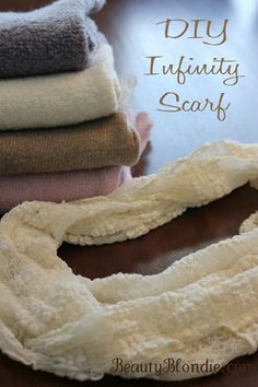 DIY Infinity Scarves  in less than 1 minute!