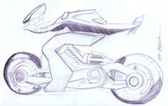 motocicleta a lapicero
