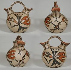 #adobegallery - Historic San Ildefonso Pueblo Polychrome Wedding Vessel by Martina Vigil (1856-1916) and Florentino Montoya (1858-1918)