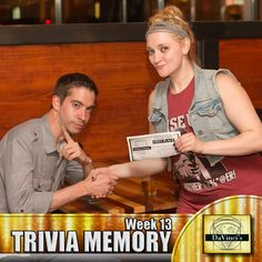 Decatur's 1st place winner.  Join us Wednesday's 7pm. http://davincisdelivers.com/trivia-signup/