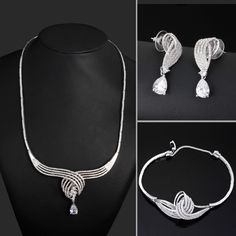 Find More Jewelry Sets Information about New Look Women Platinum Plated Cubic Zircon African Jewelry Set Wedding Dress Necklace Bracelet Earring Brass Material Lead Free,High Quality Jewelry Sets from ASM Fashion Jewelry on Aliexpress.com