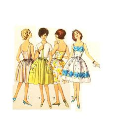 Vintage 1960s Party Dress Pattern Size 12 by RebeccasVintageSalon, $12.00
