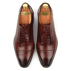Brown Leather Handmade Derby Shoes