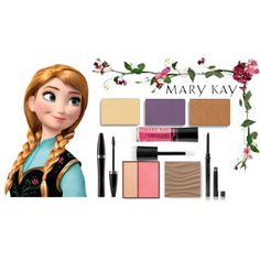 Anna Mary Kay Color by taylormarie213 on Polyvore featuring beleza, Mary Kay and Disney