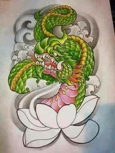 Thailand Art, Thailand Tattoo, Tattoo Design Drawings, Tattoo Designs, Snake Drawing, Thai Pattern, Frog Tattoos, Thai Tattoo, Asian Tattoos