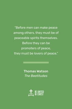 Thomas Watson's The Beatitudes is a classic discussion of Jesus' famous teaching. This engaging Puritan pastor explains and applies the introduction of Christ's sermon in a clear, compelling manner. Watson's insights can help you live the blessed life God wants for you and in the process help you to be united in Christ. Click to Download The Beatitiudes as a free Ebook or PDF. Unity Quotes, Jesus Our Savior, Beatitudes, Feeling Empty, Make Peace, Insight, Christ, The Unit, How To Apply
