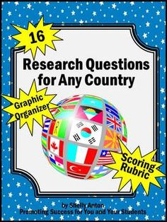 What questions should be covered in doing a research paper on a country?