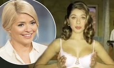 Holly Willoughby, then 18, grabs her assets as in lingerie ad