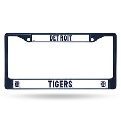 Detroit Tigers Metal License Plate Frame - Navy