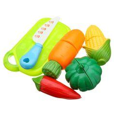 6 UNIDS Niños Jugar a las Casitas de Juguete Fruta Cortada De Plástico Verduras Cocina Bebé Clásicos Para Niños Juguetes juegos de Imaginación Playset Juguetes Educativos