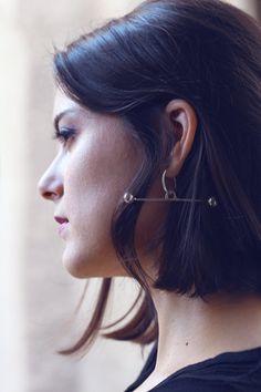 Desi single earring by SANKTOLEONOJEWELRY on Etsy