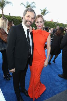 Director Judd Apatow and actress Leslie Mann attend the 22nd Annual Critics' Choice Awards.